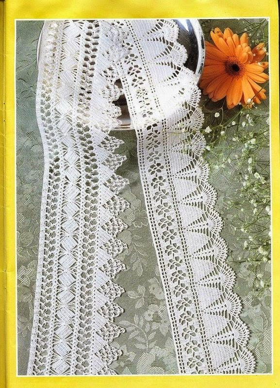 2 patrones de puntillas muy delicadas para tejer al crochet