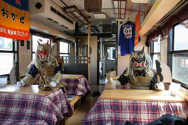 Kotatsu Train, just sit there in your warm kotatsu, Sanriku Railway, Iwate Pref.