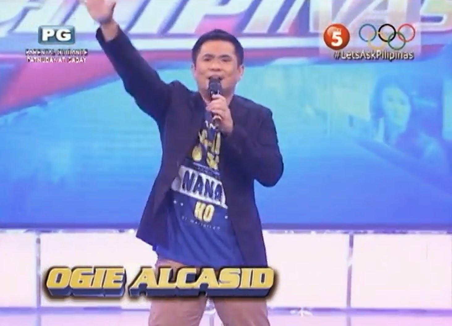 OGIE ALCASID LET'S ASK PILIPINAS