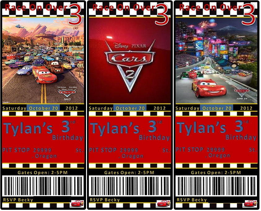 Tylan S 3rd Birthday Disney S Cars Party