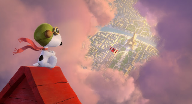 snoopy flying red baron peanuts movie
