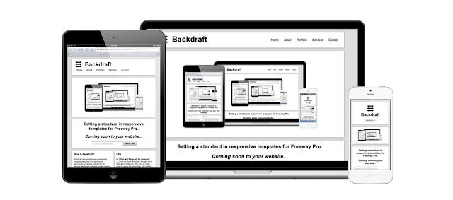 Backdraft, a responsive template for Freeway Pro 6.