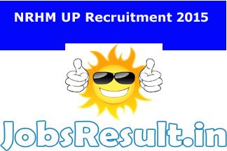 NRHM UP Recruitment 2015