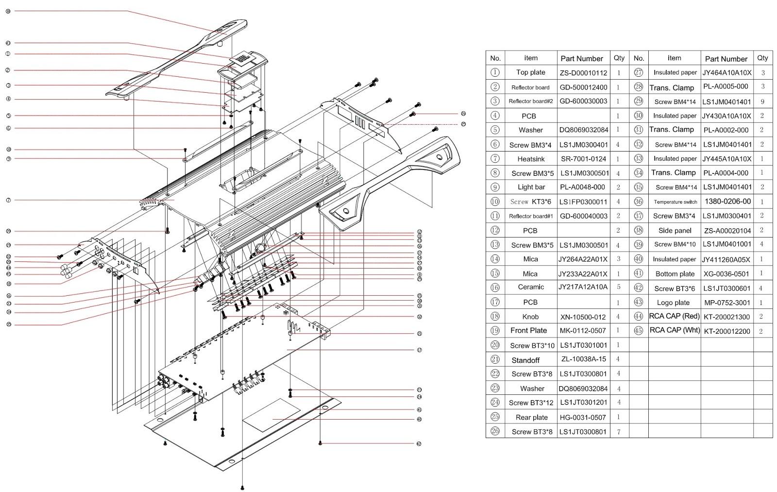jbl gto7001 car audio - circuit diagram
