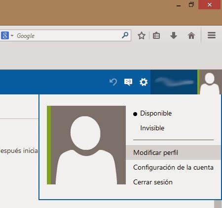 cambiar imagen de perfil de hotmail