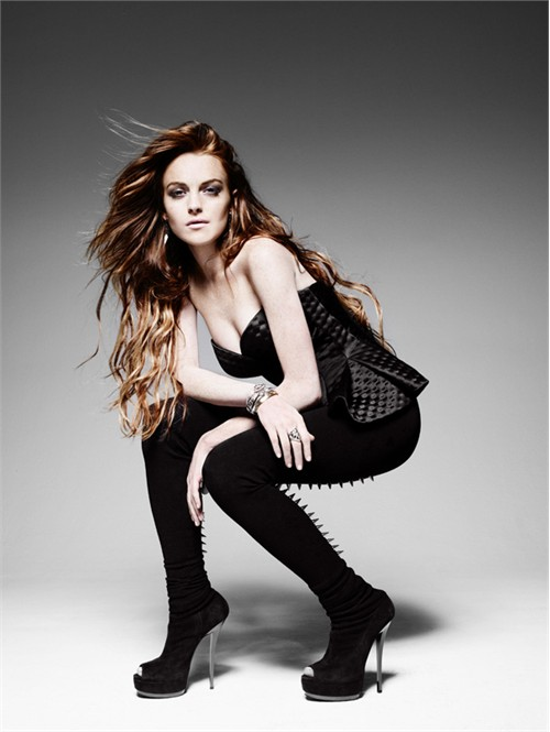 Lindsay Lohan, Actress, Elle magazine