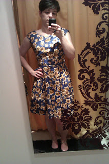 Yellow and Blue Floral Dress, Joy the Store