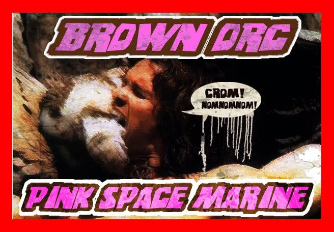brown orc pink space marine