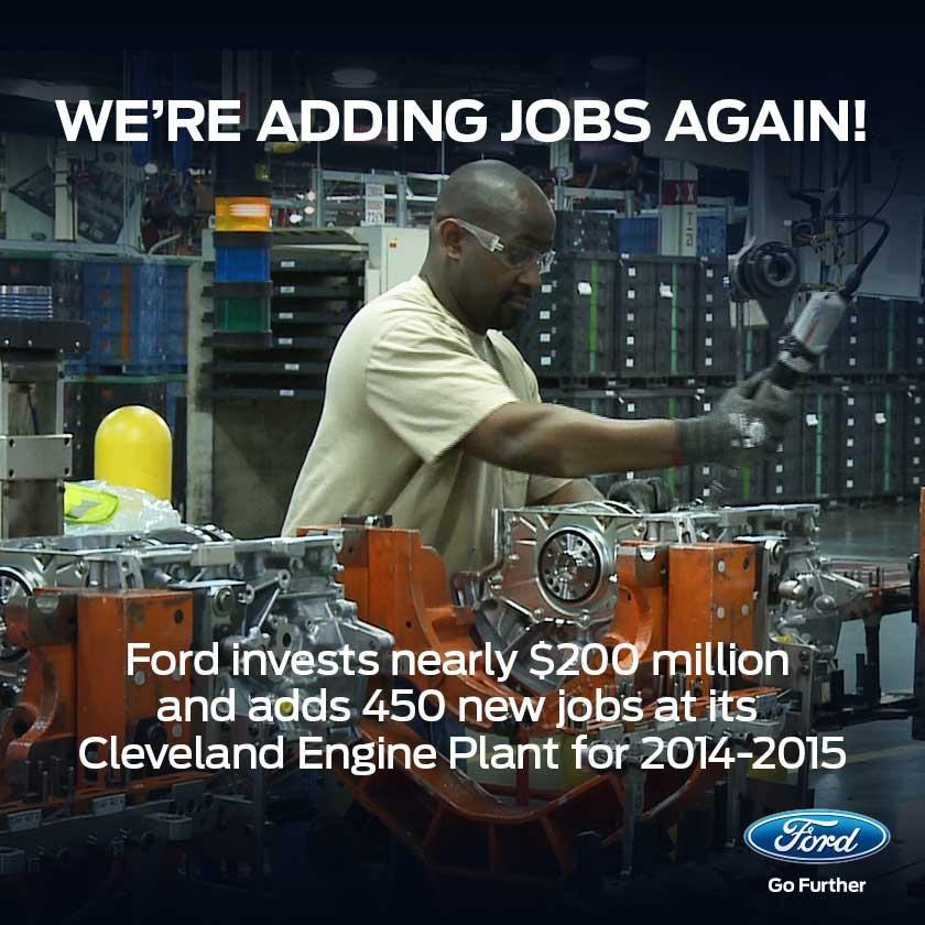 Ford Adds 450 New Jobs, Investing $200 million