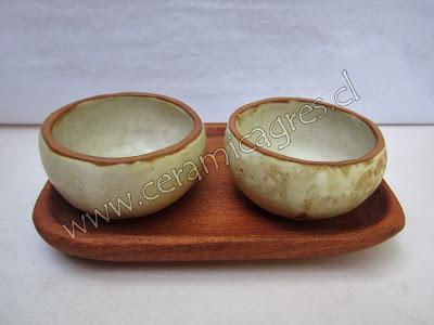Pocillos redondos Ceramica Gres Santiago Chile