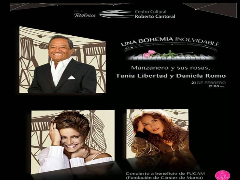 Ofrecen Manzanero, Tania Libertad y Daniela Romo, concierto a beneficio