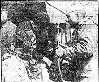 Commander Ellsberg preparing to dive on the S-4 c. 1926