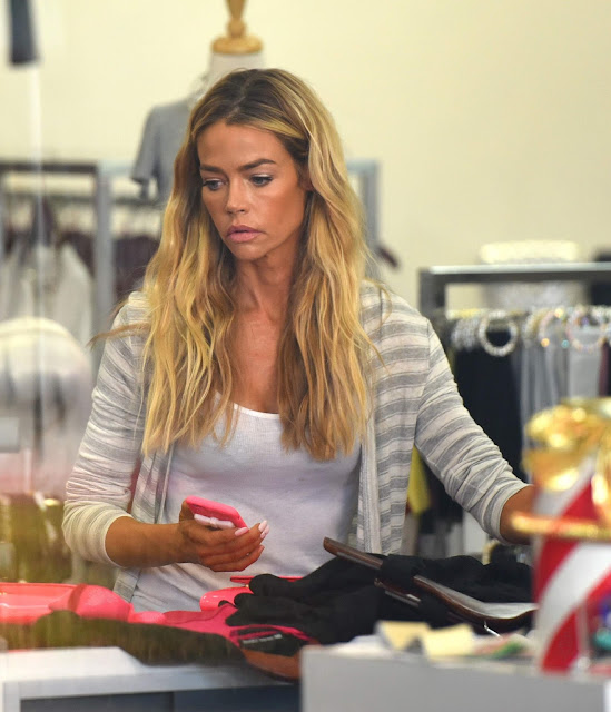 Actress, Model, @ Denise Richards  shopping in Beverly Hills
