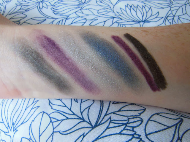bottom row swatches and eyeliners