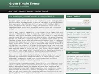 Simple Green Theme Blogger Template