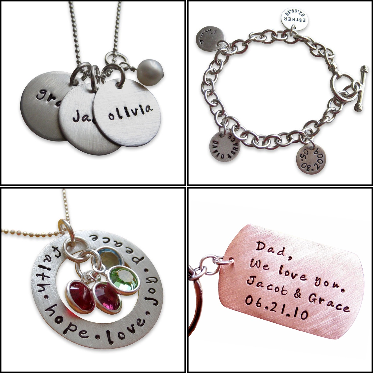 Thanks mail carrier jc jewelry design hand stamped for How to make hand stamped jewelry
