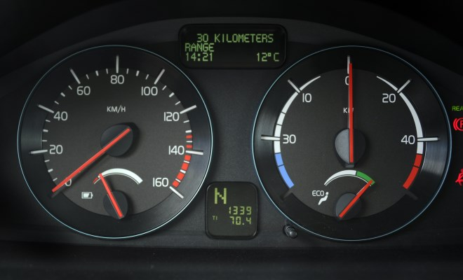 Volvo C30 Electric v2 instruments