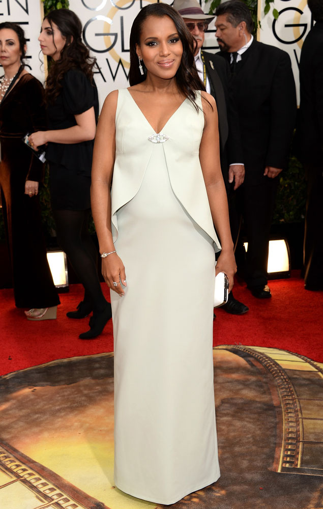 Kerry Washington de Balenciaga Globos de oro 2014