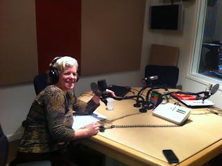 Tema in CBC's Paris studio for Spark interview