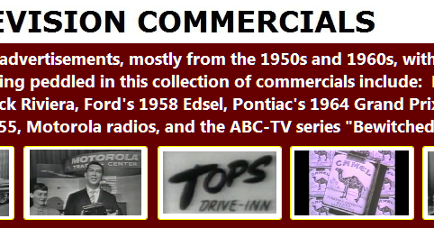 DVPs POTPOURRI RADIO COMMERCIALS FROM THE 1950s 1960s 1970s