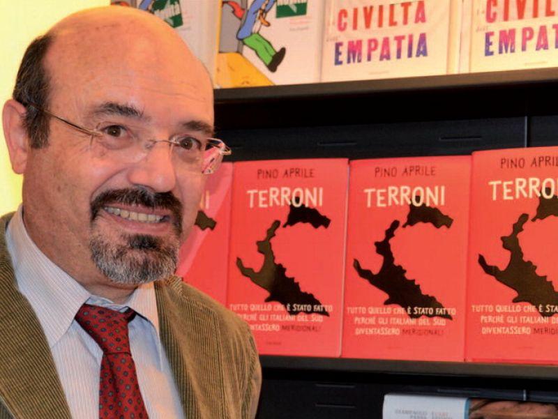 Pino Aprile, vincitore della prima edizione del Premio Caccuri di saggistica. Foto dalla rete