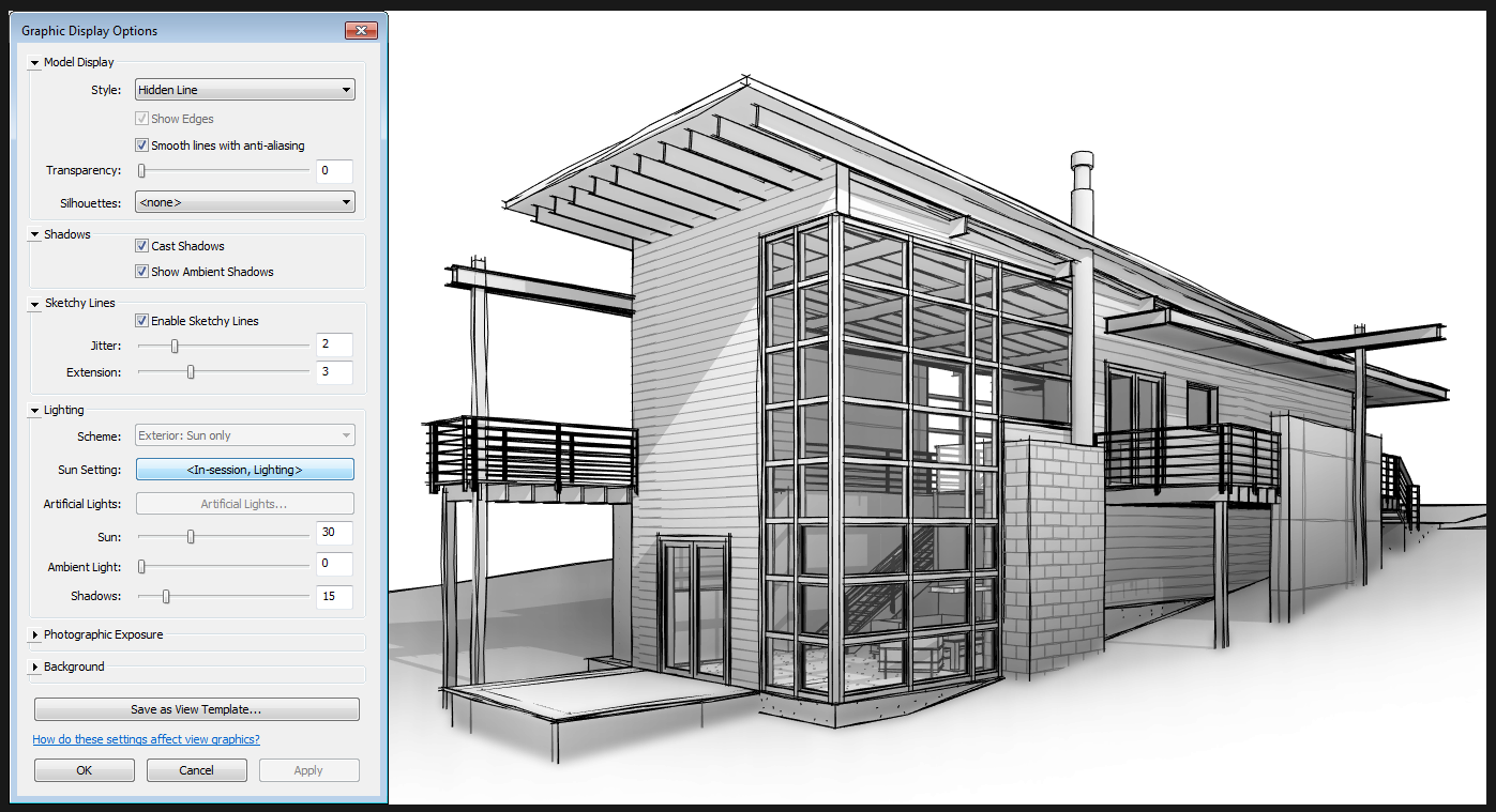 Drawing Lines In Revit : What revit wants nice sketchy lines view settings for