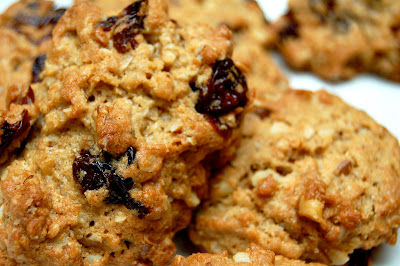 Homemade Christmas Cherry Walnut Oatmeal cookies