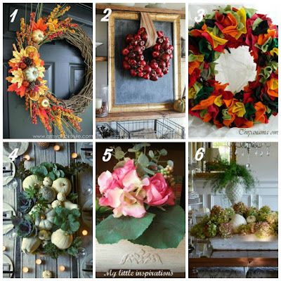12 Fall Crafting Ideas - Wreaths and centerpieces