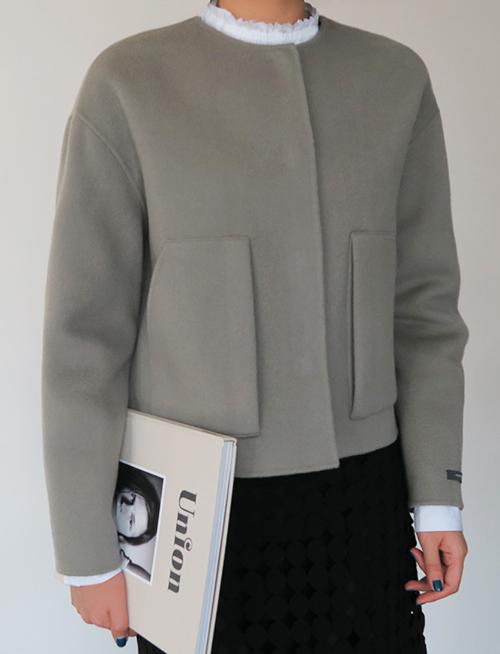 Boxy Wool Blend Jacket