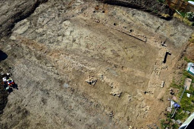 Medieval tithe barn uncovered in Southam