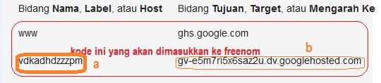 cara mengganti blogspot ke domain gratis