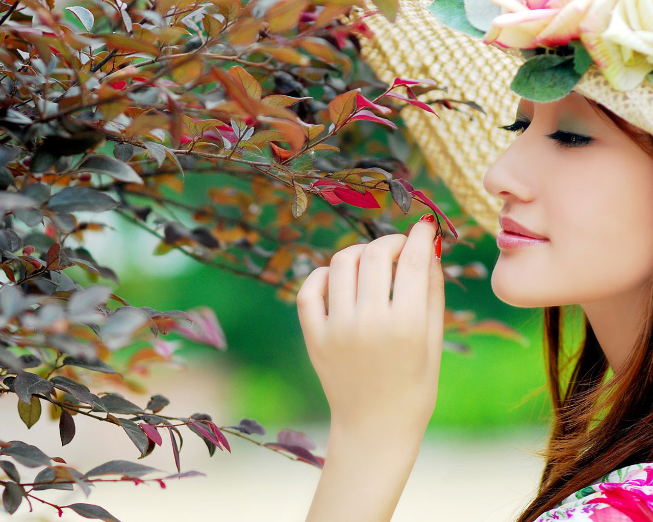 cute girl with sweet style wallpaper - lovely girl in colorful