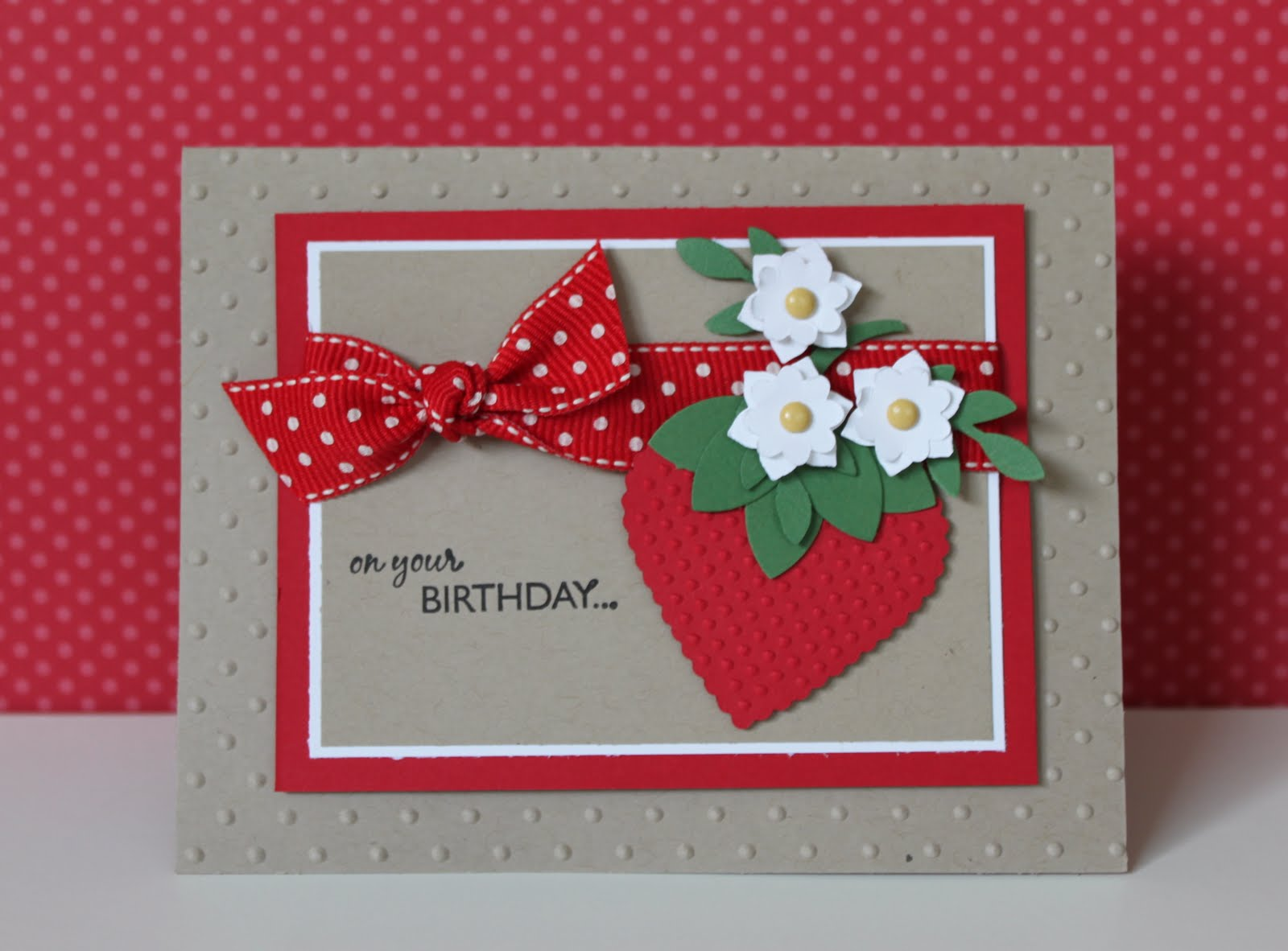 Julie B's Stampin' Space: A Berry Cute Idea!
