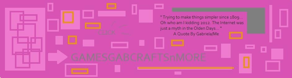 GamesGabCraftsAndMore