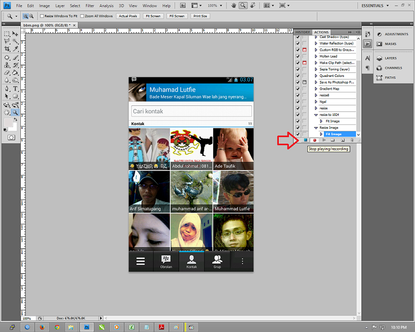 Memeperkecil Gambar Action Adobe Photoshop