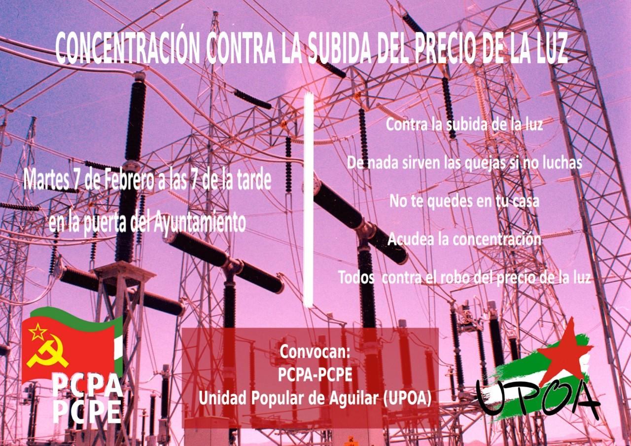 CONCENTRACION CONTRA LA SUBIDA DE LA LUZ