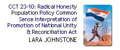 RH Pop Policy Interpretation of National Unity and Reconciliation Act