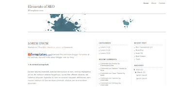 Elements of SEO, Template Blog SEO