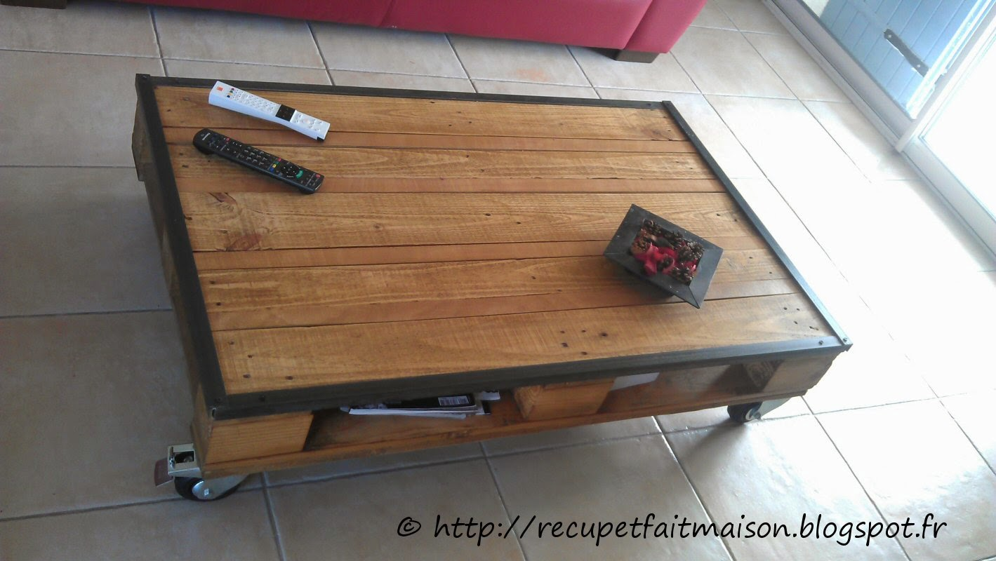 R cup et fait maison des id es r cup et d co table basse for Idee table basse recup