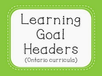 Learning Goal Headers