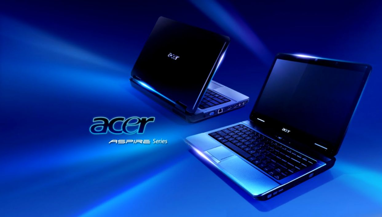 acer aspire blue logo wallpaper desktop