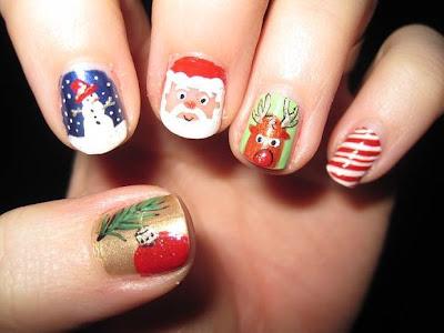 Christmas nail art designs hd wallpapers everything is here funny christmas nail art designsg prinsesfo Images