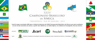 XXIV Campeonato Brasileiro de Sinuca dia 13/10 em Teresópolis