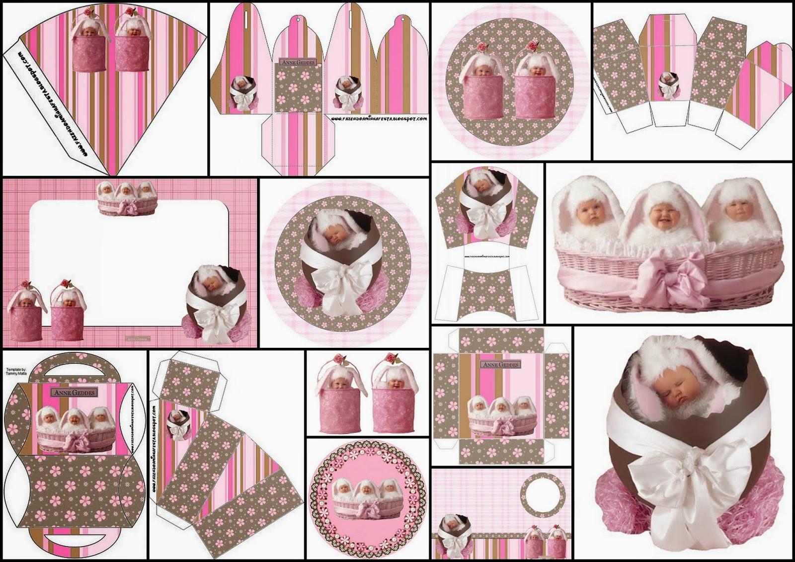 Bebés de Anne Geddes: Kit para Pascua para Imprimir Gratis.