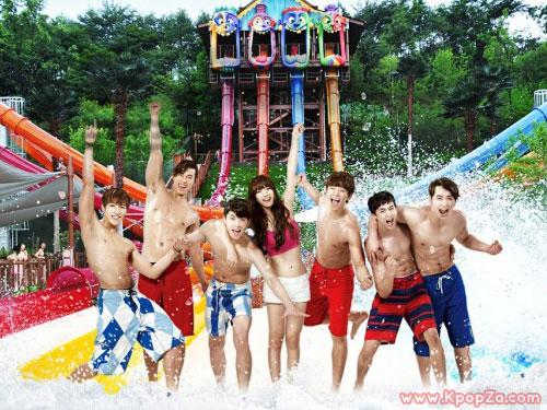 Suzy และ 2PM เผยเบื้องหลังการถ่ายทำโฆษณาสวนน้ำ Caribbean Bay ออกมาแล้ว