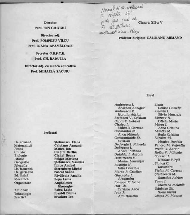 Colegii clasei 9-12V, promotia 1986, liceul N.Balcescu, Bucuresti 2