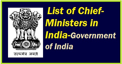 indian government ministers list, chief minister, ind of rajasthan, chief minister of uttar pradesh,  chief minister of  haryana,  chief minister of  himachal pradesh,  chief minister of  andhrapradesh,  chief minister of  tamil nadu