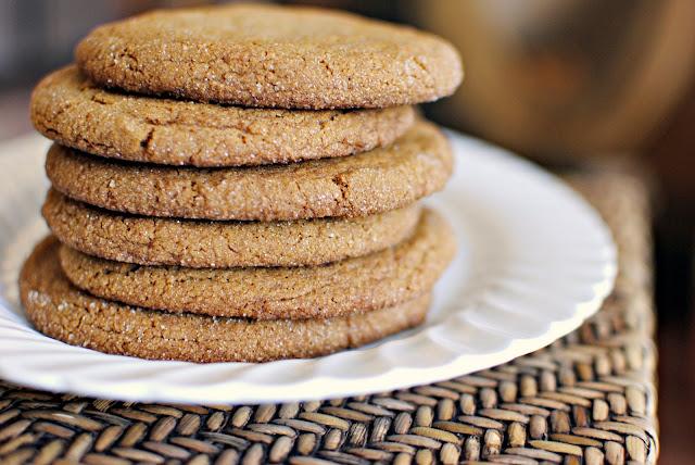 ginger molasses cookies l simplyscratch.com