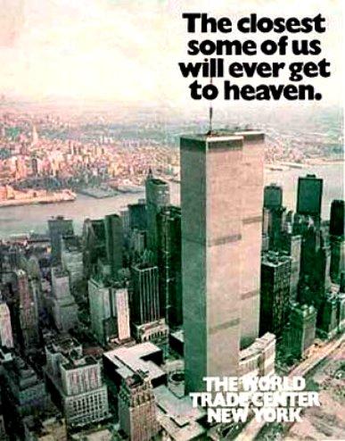 Propaganda de promoção de salas comerciais no World Trade Center, em 1984.