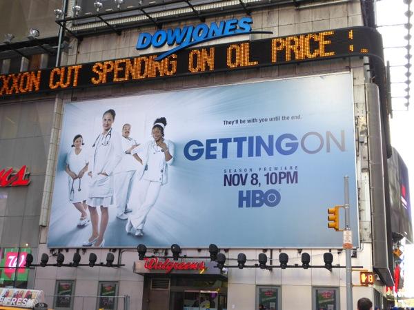 Getting On season 3 billboard Times Square NYC
